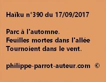 Haïku n°390 du 170917