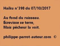 Haïku n°398 du 071017