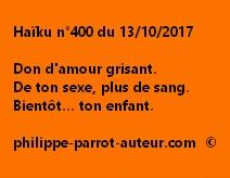 Haïku n°400 du 131017