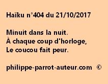 Haïku n°404 du 211017
