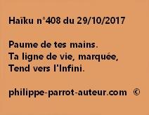 Haïku n°408 du 291017