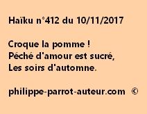 Haïku n°412 du 101117