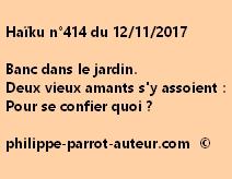 Haïku n°414 du 121117