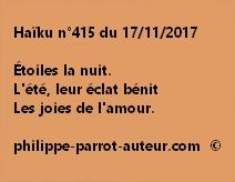 Haïku n°415 du 171117