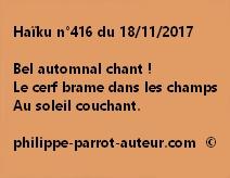 Haïku n°416 du 181117