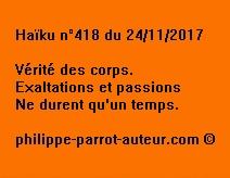 Haïku n°418 du 241117