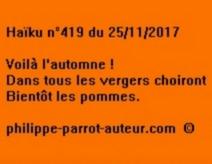 Haïku n°419 du 251117