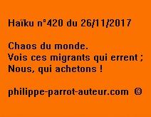Haïku n°420 du 261117