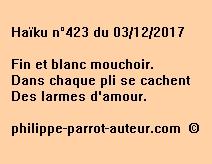 Haïku n°423 du 031217