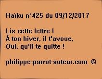 Haïku n°425 du 091217