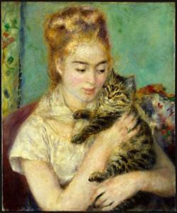 P 295 - La femme au chat - Renoir