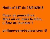 Haïku n°447 270118