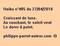 Haïku n°485  270418
