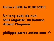 Haïku n°500  010618