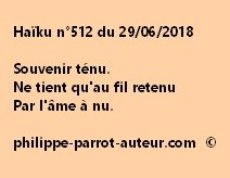 Haïku n°512  290618