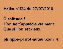 Haïku n°524  270718