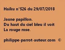 Haïku n°526  290718
