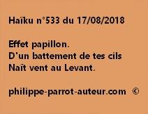 Haïku n°533  170818