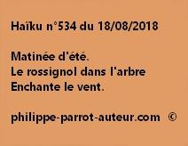 Haïku n°534  180818