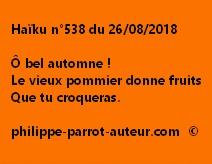 Haïku n°538  260818