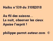 Haïku n°539  310818