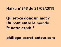 Haïku n°548  210918