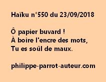 Haïku n°550  230918