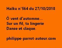 Haïku n°564  271018