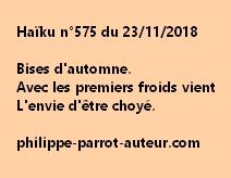 Haïku n°575  231118 xs