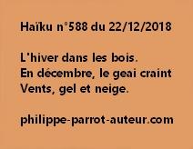 Haïku n°588  221218