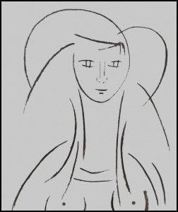 345 - La femme au fusain