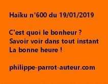 Haïku n°600  190119