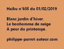 Haïku n°605 010219