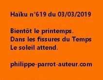 Haïku n°619  030319