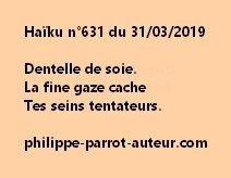 Haïku n°631  310319