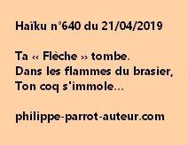 Haïku n°640  210419