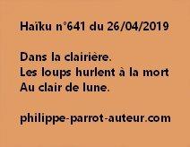 Haïku n°641  260419