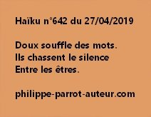 Haïku n°642  270419