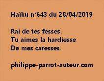 Haïku n°643  280419
