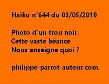 Haïku n°644  030519)