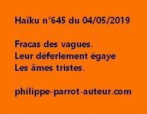 Haïku n°645  040519