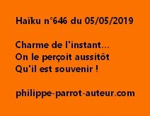 Haïku n°646  050519