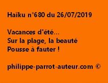 Haïku n°680  260719