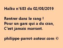 Haïku n°683  020819