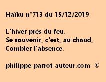 Haïku n°713 151219