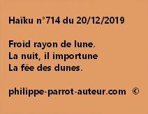Haïku n°714 201219