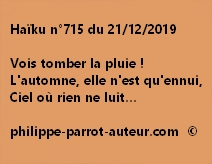 Haïku n°715 211219
