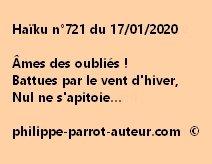 Haïku n°721 170120