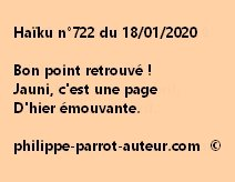 Haïku n°722 180120