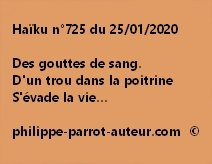 Haïku n°725 250120